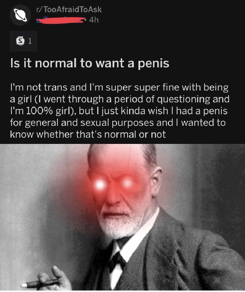 Freud Penis Envy dimensiunile și timpii penisului